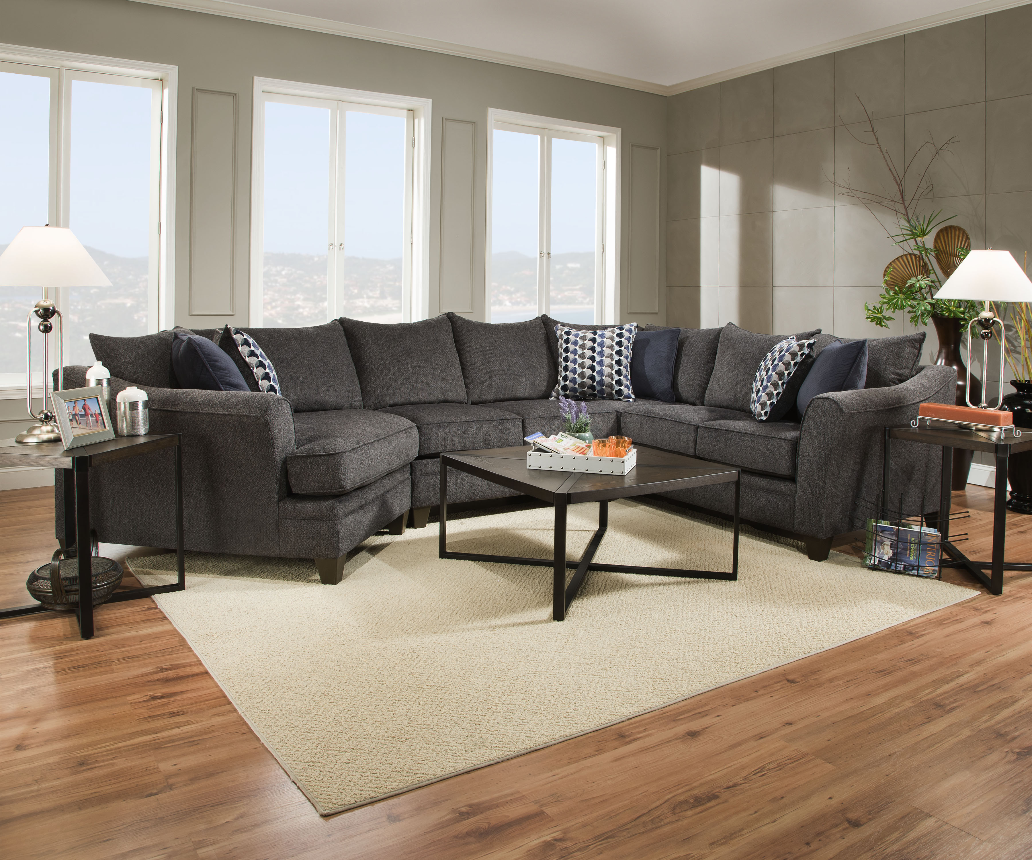 Simmons Cuddler Chaise Large Sectional