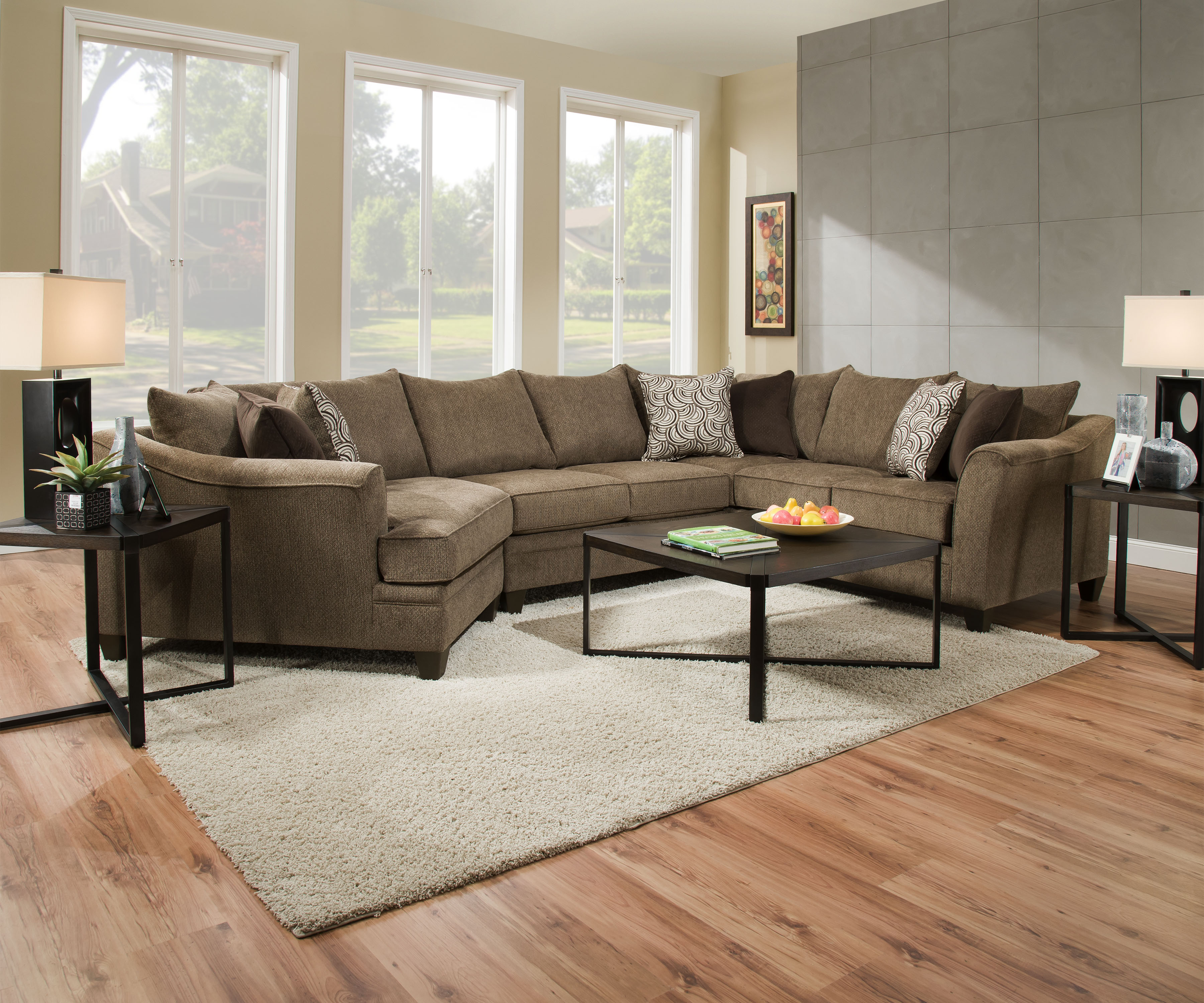 Sectional Sofa With Chaise And Cuddler