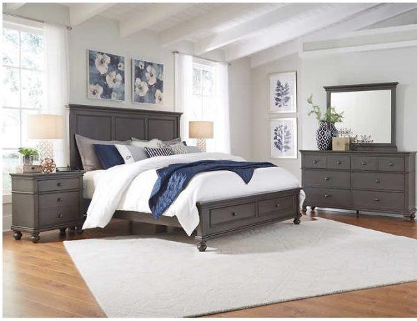 Corona 5 Piece Queen Storage Bedroom Set Harrington Home Furniture